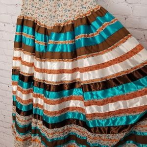 Vintage Skirts - Vintage Homemade|Prairie Style Tiered Skirt